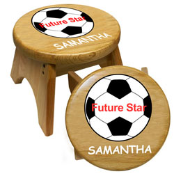 Personalized Future Soccer Star Stool