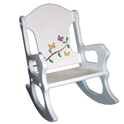 Personalized Butterfly Branch Rocking Chair