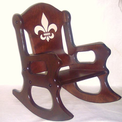 Fleur De Lis Childrens Rocking Chair