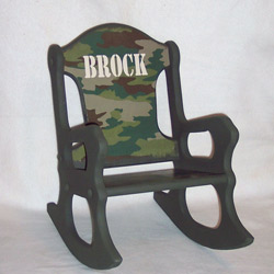 Personalized Camo Rocking Chair