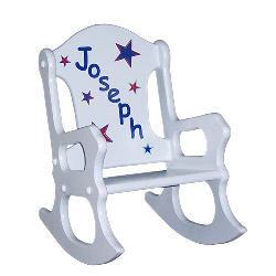 Red, White and Blue Stars Rocking Chair