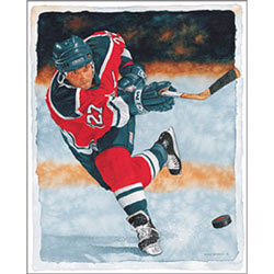 Ice Hockey Watercolor Wall Art