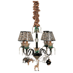 Safari 4 Arm Chandelier