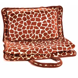 Animal Print Minky Nap Mat