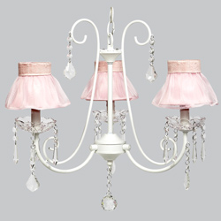 Ruffled Skirt 3 Arm Bliss Chandelier