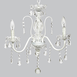 3 Arm Jewel Glass Chandelier