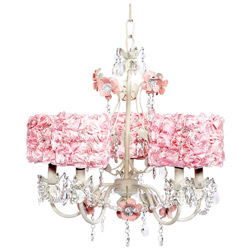 Rose Garden 5 Arm Chandelier