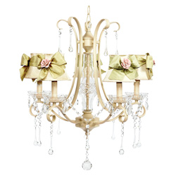 Rose Sash Ivory Colleen Chandelier