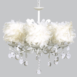 White Feather Elegance Chandelier