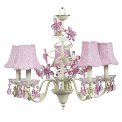 Crystal Flower 5 Arm Chandelier
