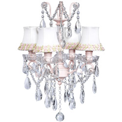 Crystal Glass 4 Light Chandelier