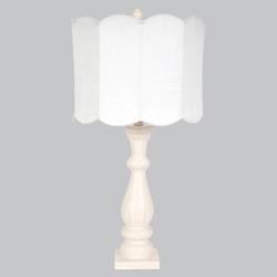 Scalloped Shabby Chic Lamp