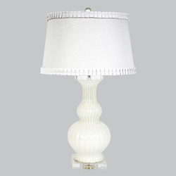 White Calabaza Lamp