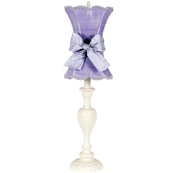 Lavender Scallop Hourglass Lamp