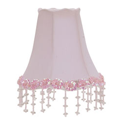Pink Pearl Flower Chandelier Shade