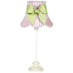 Pink 'n White Scallop Lamp