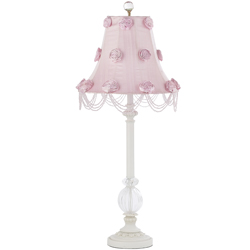 Rose Swag Glass Ball Lamp