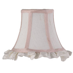 Ruffled Edge Chandelier Shade