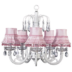 Waterfall Pink Dangle Chandelier