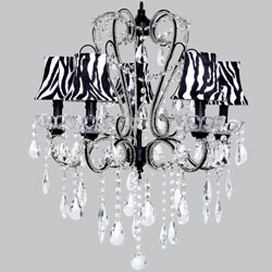 Zebra Beaded Crystal Chandelier