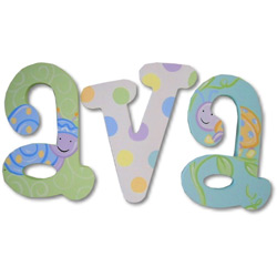 Adorable Bugs Wall Letters