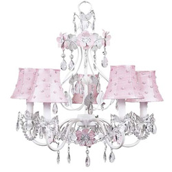 Pearl Dot Flower Garden Chandelier