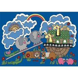 Noah's Ark Childrens Rug
