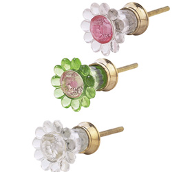 Glass Trumpet Petal Knobs