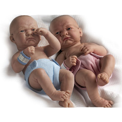 Newborn Baby Twin Girl and Boy
