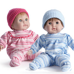 Huggable and Lovable Twin Dolls