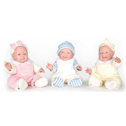 Winter Stripe Lovable Triplet Dolls