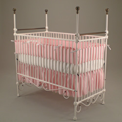 Aristocratic Elegance Iron Crib
