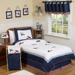 Vintage Airplane Twin/Full Bedding Set