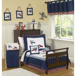 Vintage Airplane Toddler Bedding Set