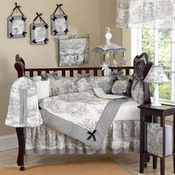 Toile Crib Bedding Set