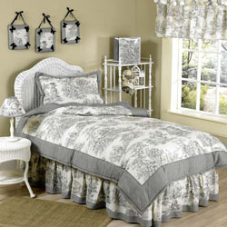 Toile Twin Bedding Set