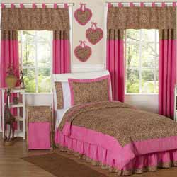 Cheetah Pink Twin Bedding Set