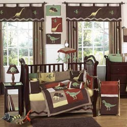 Dinosaur Land Crib Bedding Set