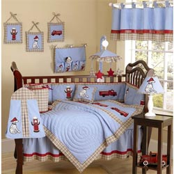 Fire truck Crib Bedding Set