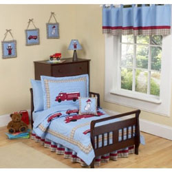 Frankie's Fire Truck Toddler Bedding