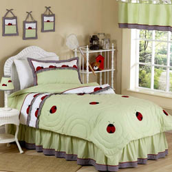 Ladybug Parade Twin Bedding Set