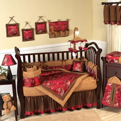 Oriental Garden Crib Bedding Set