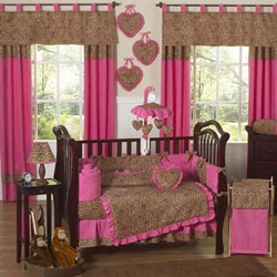 Cheetah Pink Crib Bedding Set