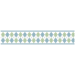 Argyle Wallpaper Border