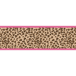 Cheetah Pink Wallpaper Border