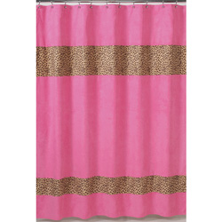 Cheetah Pink Shower Curtain