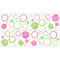 Pink Circles Wall Decal
