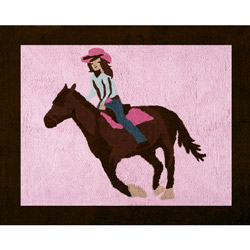 Cowgirl Accent Rug