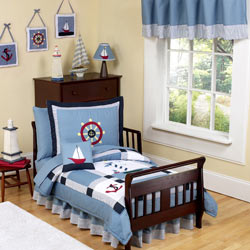 Come Sail Away Toddler Bedding