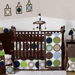 Designer Dot Crib Bedding Collection